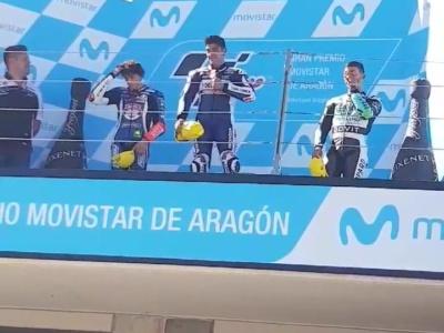 Premiazione moto3 Aragon 2018